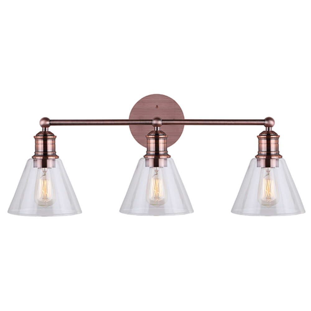 Canarm Larken 3 Lights Bronze Wall Light